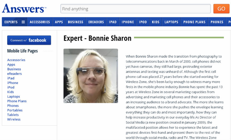 Bonnie Sharon mobile life expert