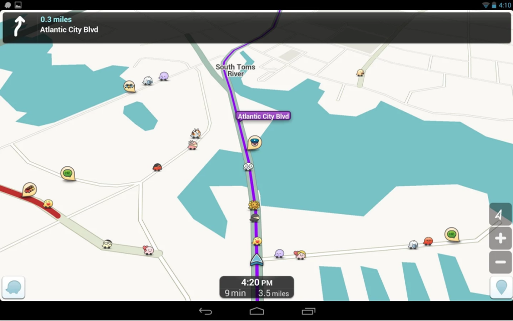 Waze app for traffic