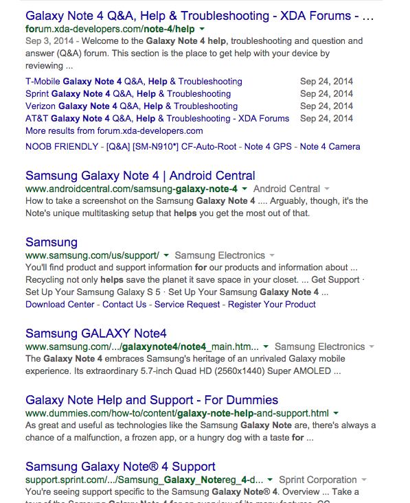 Search Results Galaxy Note 4